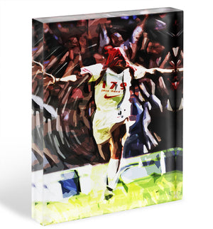 Ian Wright Just Done It Acrylic Block - Canvas Art Rocks - 1