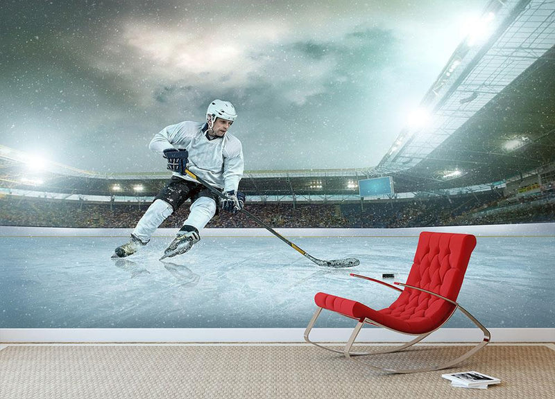 Ice hockey Winter Classic game Wall Mural Wallpaper - Canvas Art Rocks - 1