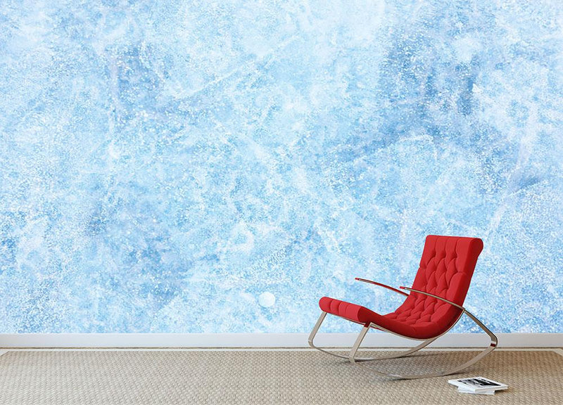 Ice of Baikal lake Wall Mural Wallpaper - Canvas Art Rocks - 1