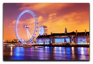 Ilumination of the London Eye Canvas Print or Poster  - Canvas Art Rocks - 1