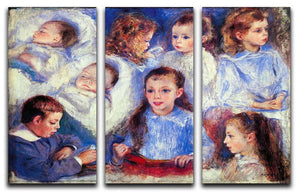 Images of childrens character heads by Renoir 3 Split Panel Canvas Print - Canvas Art Rocks - 1