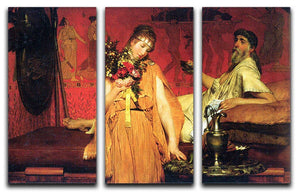 In a state of trepidation by Alma Tadema 3 Split Panel Canvas Print - Canvas Art Rocks - 1