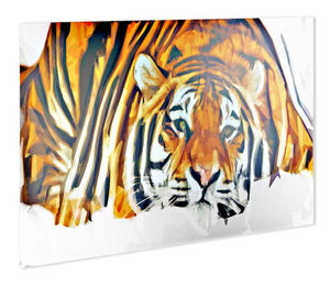 Indian Tiger Metal Print - Canvas Art Rocks - 1