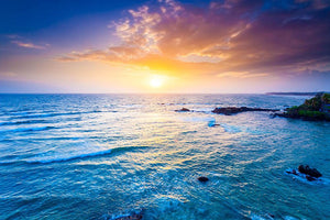 Indian ocean on sunset Wall Mural Wallpaper - Canvas Art Rocks - 1