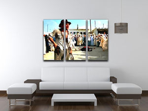 Indiana Jones 3 Split Panel Canvas Print - Canvas Art Rocks - 4