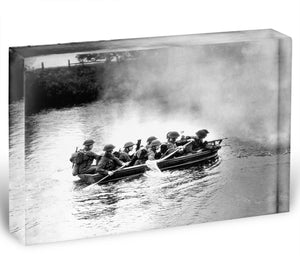 Infantry brigade assault boat drill Acrylic Block - Canvas Art Rocks - 1