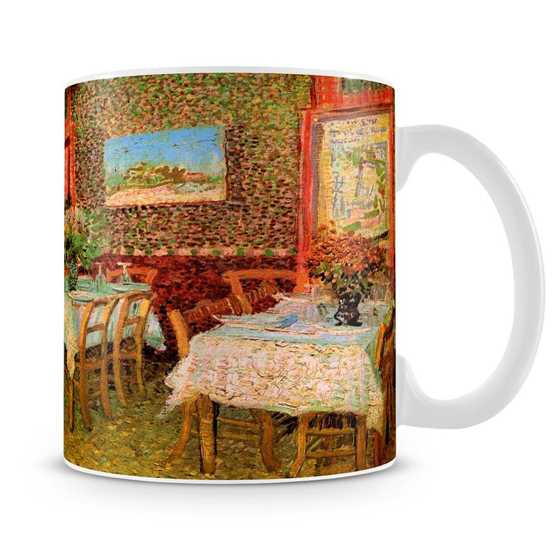 Interior of a restaurant by Van Gogh Mug - Canvas Art Rocks - 4
