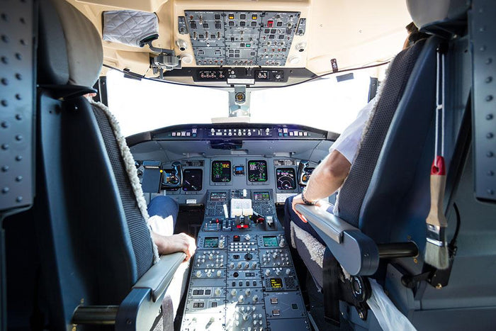 Interior of airplane cockpit Wall Mural Wallpaper