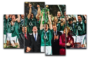 Ireland 6 Nations Grand Slam 2018 4 Split Panel Canvas  - Canvas Art Rocks - 1