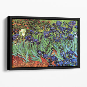 Irises 2 by Van Gogh Floating Framed Canvas