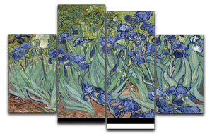 Irises by Van Gogh 4 Split Panel Canvas  - Canvas Art Rocks - 1