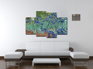 Irises by Van Gogh 4 Split Panel Canvas - Canvas Art Rocks - 3