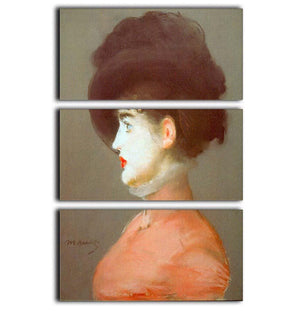 Irma Brunne by Manet 3 Split Panel Canvas Print - Canvas Art Rocks - 1