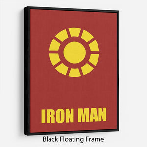 Iron Man Minimal Movie Floating Frame Canvas - Canvas Art Rocks - 1