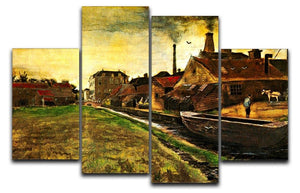 Iron Mill in The Hague by Van Gogh 4 Split Panel Canvas  - Canvas Art Rocks - 1