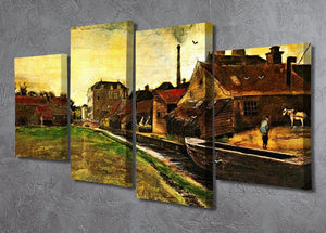 Iron Mill in The Hague by Van Gogh 4 Split Panel Canvas - Canvas Art Rocks - 2