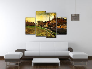 Iron Mill in The Hague by Van Gogh 4 Split Panel Canvas - Canvas Art Rocks - 3