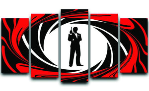James Bond Opening Sequence 5 Split Panel Canvas  - Canvas Art Rocks - 1