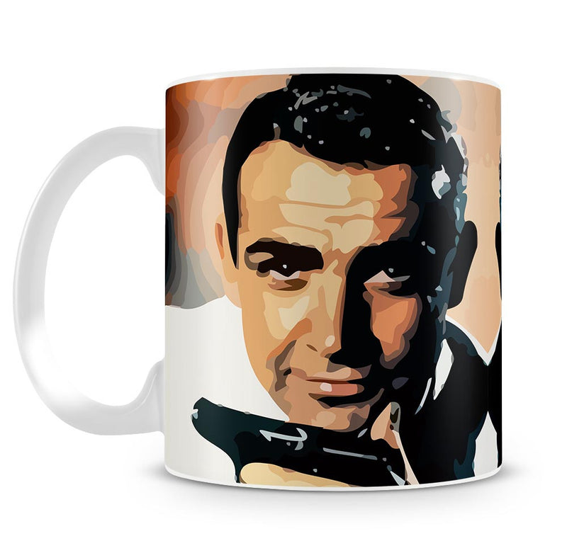 James Bond Sean Connery and Gun Mug - Canvas Art Rocks