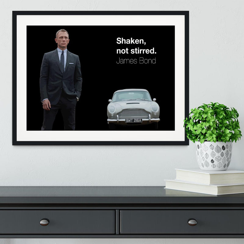 James Bond Shaken Not Stirred Framed Print - Canvas Art Rocks - 1