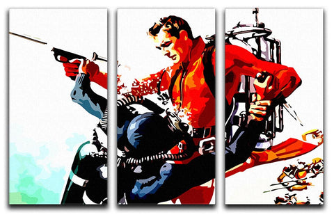 James Bond Thunderball 3 Split Panel Canvas Print - They'll Love It