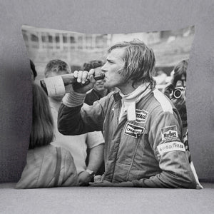 James Hunt swigging champagne Cushion