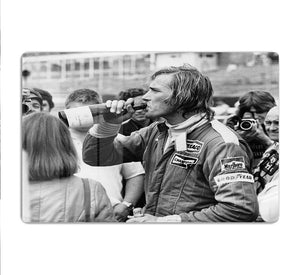James Hunt swigging champagne HD Metal Print