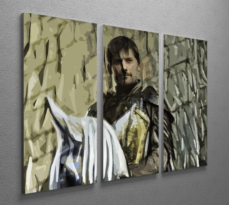 Jamie Lannister 3 Split Panel Canvas Print - Canvas Art Rocks - 4