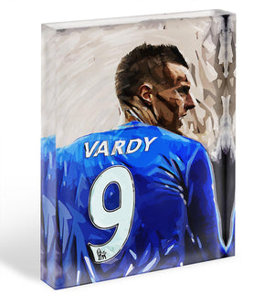 Jamie Vardy Acrylic Block - Canvas Art Rocks - 1