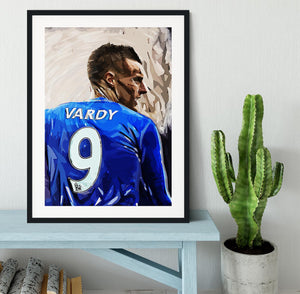 Jamie Vardy Framed Print - Canvas Art Rocks - 1