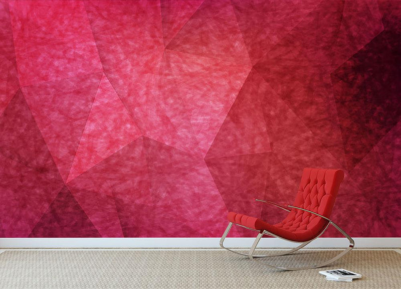 Japanese paper red background Wall Mural Wallpaper - Canvas Art Rocks - 1