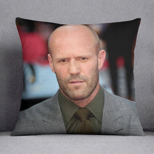 Jason Statham Cushion - Canvas Art Rocks - 1