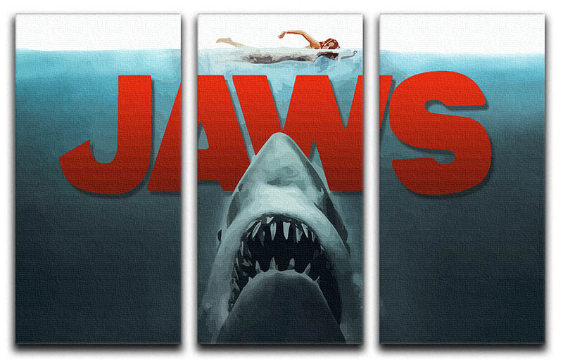 Jaws 3 Split Panel Canvas Print - Canvas Art Rocks