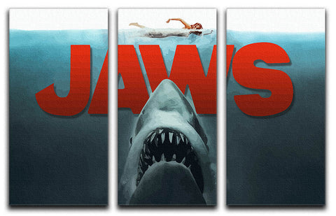 Jaws 3 Split Panel Canvas Print