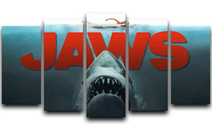 Jaws 5 Split Panel Canvas  - Canvas Art Rocks - 1