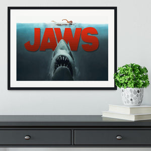 Jaws Framed Print - Canvas Art Rocks - 1