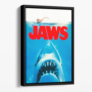 Jaws Portrait Floating Framed Canvas