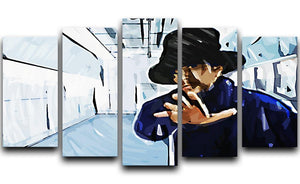 Jay Kay Jamiroquai 5 Split Panel Canvas  - Canvas Art Rocks - 1