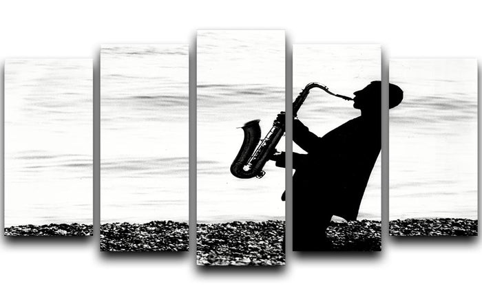 Jazz on the beach 5 Split Panel Canvas
