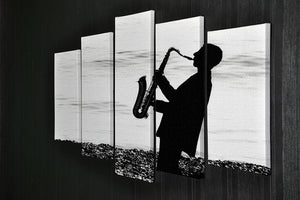 Jazz on the beach 5 Split Panel Canvas - Canvas Art Rocks - 2