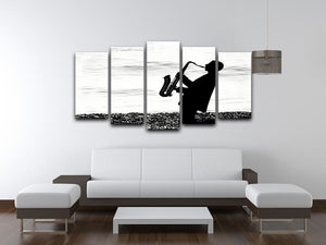 Jazz on the beach 5 Split Panel Canvas - Canvas Art Rocks - 3