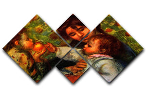 Jean Renoir and Gabrielle by Renoir 4 Square Multi Panel Canvas  - Canvas Art Rocks - 1