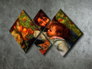Jean Renoir and Gabrielle by Renoir 4 Square Multi Panel Canvas - Canvas Art Rocks - 2