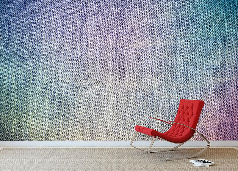 Jeans texture background Wall Mural Wallpaper - Canvas Art Rocks - 1