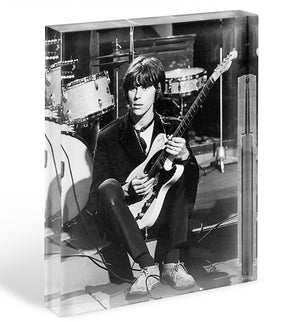 Jeff Beck in 1967 Acrylic Block - Canvas Art Rocks - 1