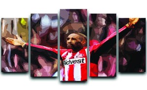 Jermain Defoe 5 Split Panel Canvas  - Canvas Art Rocks - 1