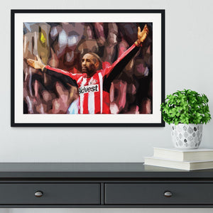 Jermain Defoe Framed Print - Canvas Art Rocks - 1