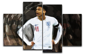 Jesse Lingard England 4 Split Panel Canvas  - Canvas Art Rocks - 1