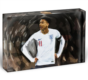 Jesse Lingard England Acrylic Block - Canvas Art Rocks - 1