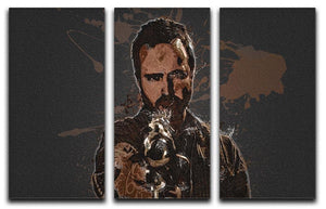 Jesse Pinkman Breaking Bad 3 Split Panel Canvas Print - Canvas Art Rocks - 1